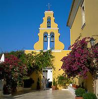 Greece, Corfu, near Palaiokastritsa: monastery Panagia Theotokou | Griechenland, Korfu, bei Palaiokastritsa: Kloster Panagia Theotokou