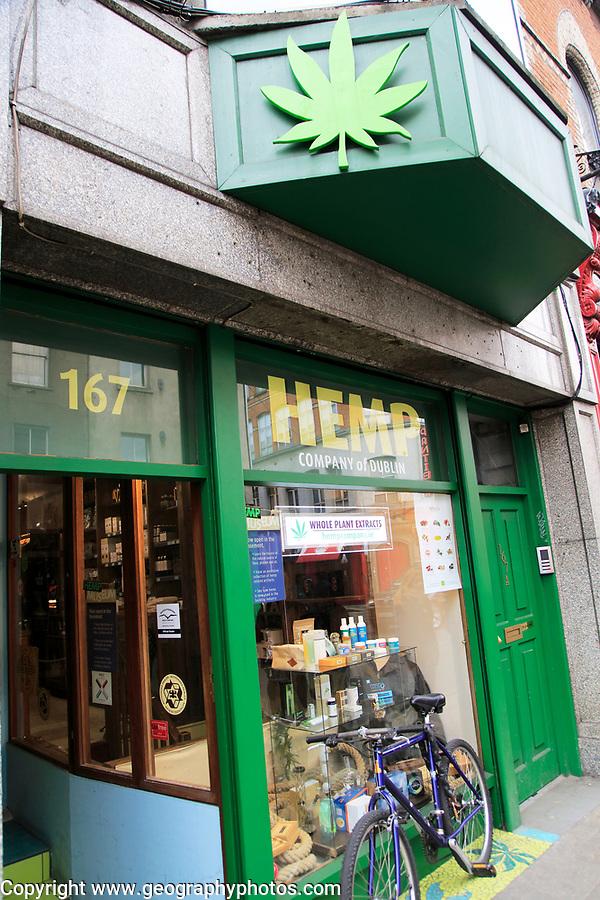 Hemp company shop,  Capel Street, Dublin city centre, Ireland, Republic of Ireland