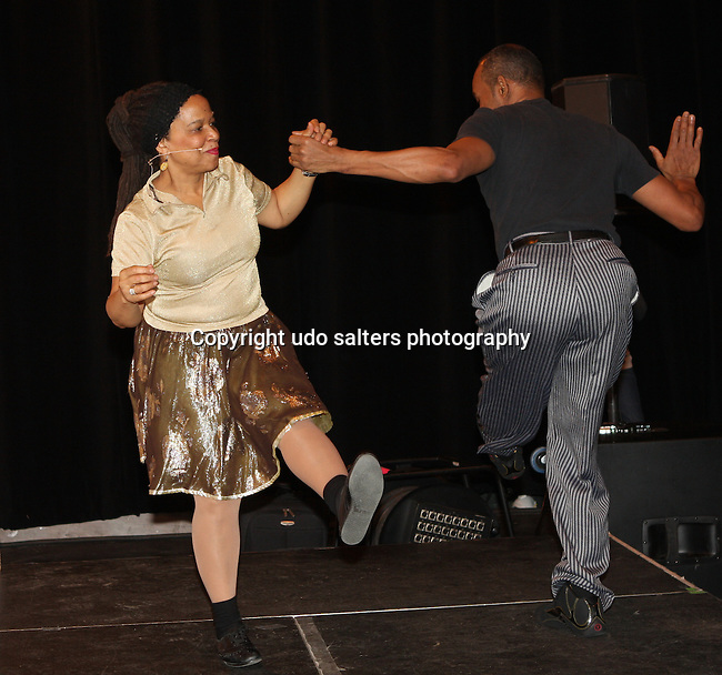 """Choreographer and Instructor Mickey Davidson and Kevin Gaudin teach """"Dancing Through Time at the Apollo"""" at the Apollo Open House Weekend Sponsored by Target, Harlem New York 2/5/2011"""