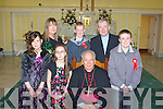 A great day for the pupils from Scoil Chriost Ri?, Causeway as they were confirmed on Monday in St John's Church, Causeway by the Bishop of Kerry, Bill Murphy, Front l-r: Samanta Goggin, Sinead Butler, Bishop of Kerry Bill Murphy and Kevin Slattery. Back l-r: Ms O'Connor(teacher), Brandon Barrett and Fr Brendan Walsh.................................. ....