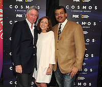 BEVERLY HILLS, CA - AUGUST 3: (L-R) Alan Silvestri, Ann Druyan, and Neil DeGrasse Tyson arrive at the Fox And National Geographic Channel Presents A Screening Of 'Cosmos: A Spacetime Odyssey' at The Paley Center for Media on August 3, 2014 in Beverly Hills, California. PGFM/Starlitepics