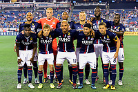 September 9, 2017 - Foxborough, Mass: New England Revolution starters pose for a team photo at the MLS game between the Montreal Impact and the New England Revolution held at Gillette Stadium in Foxborough Massachusetts. Revolution defeat Impact 1-0. Eric Canha/CSM