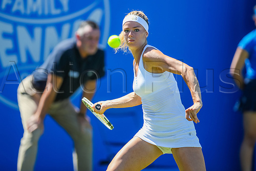 June 18th 2017, Edgbaston Priory Club; Tennis Tournament; Aegon Classic Birmingham; Sunday Qualifiers; Camila Giorgi during qualification as she beats Grace Min
