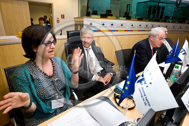 BRUSSELS - BELGIUM - 01 JUNE 2012 -- European Training Foundation (ETF) corporate conference 2012 Committee of the Regions (COR) - Multilevel Governance in Education and Training: Challenges and opportunities. -- Panel discussion on findings of the conference and work ahead - Hjördis Ogendo - Cooperation Officer, European Commission - DG DEVCO, Gerhard Schumann-Hitzler, Director - DG ELARG, Ian Whitman, Head of Programme for Co-operation with Non Member Economies - OECD, Jon Sigurdsson - Chairman of Joint Committee, Ministry of Education and Culture of Iceland. --  PHOTO: Juha ROININEN /  EUP-IMAGES