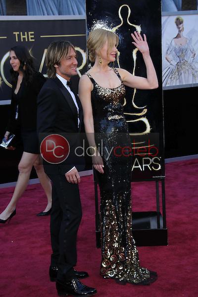Keith Urban, Nicole Kidman<br /> at the 85th Annual Academy Awards Arrivals, Dolby Theater, Hollywood, CA 02-24-13<br /> David Edwards/DailyCeleb.com 818-249-4998