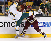 Slavomir Tomko (Vermont - 2), Matt Lombardi (BC - 24) - The Boston College Eagles defeated the University of Vermont Catamounts 4-0 in the Hockey East championship game on Saturday, March 22, 2008, at TD BankNorth Garden in Boston, Massachusetts.