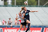 Cary, North Carolina  - Saturday July 01, 2017: Samantha Mewis and Nikki Stanton during a regular season National Women's Soccer League (NWSL) match between the North Carolina Courage and the Sky Blue FC at Sahlen's Stadium at WakeMed Soccer Park. Sky Blue FC won the game 1-0.