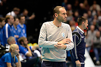 GRONINGEN - Volleybal, Abiant Lycurgus - Luboteni, voorronde Champions League, seizoen 2017-2018, 26-10-2017 Luboteni coach Lahaj Arsum