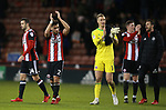 Players acknowledge the fans during the Championship match at Bramall Lane Stadium, Sheffield. Picture date 26th December 2017. Picture credit should read: Simon Bellis/Sportimage