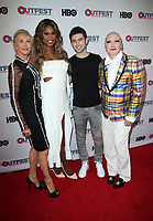 "LOS ANGELES, CA- Trudie Styler, Lavern Cox, Ian Nelson, James St. James, At 2017 Outfest Los Angeles LGBT Film Festival - Closing Night Gala Screening Of ""Freak Show"" at The Theatre at Ace Hotel, California on July 16, 2017. Credit: Faye Sadou/MediaPunch"