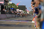 Andre Greipel (GER) Lotto-Soudal sprints for the finish line in Tortoli at the end of Stage 2 of the 100th edition of the Giro d'Italia 2017, running 221km from Olbia to Tortoli, Sardinia, Italy. 6th May 2017.<br /> Picture: Eoin Clarke | Cyclefile<br /> <br /> <br /> All photos usage must carry mandatory copyright credit (&copy; Cyclefile | Eoin Clarke)