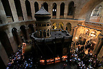 Israel, Jerusalem, Palm Sunday at the Church of the Holy Sepulchre