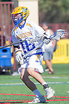 Santa Barbara, CA 04/16/16 - Alex Dixon (UCSB #18) in action during the final regular MCLA SLC season game between Chapman and UC Santa Barbara.  Chapman defeated UCSB 15-8.