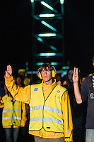 The stewards also do their scout promise at the closing ceremony. Photo: Audun Ingebrigtsen / Scouterna