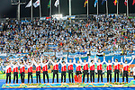 Belgium salute the crowd before Men's hockey medal ceremony at the Rio 2016 Olympics at the Olympic Hockey Centre in Rio de Janeiro, Brazil.