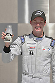2017 F4 US Championship<br /> Rounds 4-5-6<br /> Indianapolis Motor Speedway, Speedway, IN, USA<br /> Saturday 10 June 2017<br /> Kyle Kirkwood with traditionl bottle of milk for winner. Kyle won all three Indy weekend events.<br /> World Copyright: Dan R. Boyd<br /> LAT Images