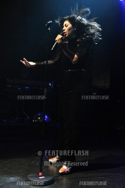 Marina and the Diamonds singer, Marinda Diamandis.perfoms live at The Forum, Kentish Town London. 09/10/2010  Picture by: Steve Vas /  Featureflash