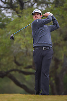 Beau Hossler (USA) watches his tee shot on 2 during Round 3 of the Valero Texas Open, AT&T Oaks Course, TPC San Antonio, San Antonio, Texas, USA. 4/21/2018.<br /> Picture: Golffile | Ken Murray<br /> <br /> <br /> All photo usage must carry mandatory copyright credit (© Golffile | Ken Murray)