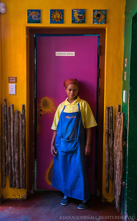 This lovely young woman let me take her photo and her colleagues asked that I post it on their Facebook page.  The Village Cafe in Swakopmond has great food and all the colors of Namibia in one, beautiful cafe...