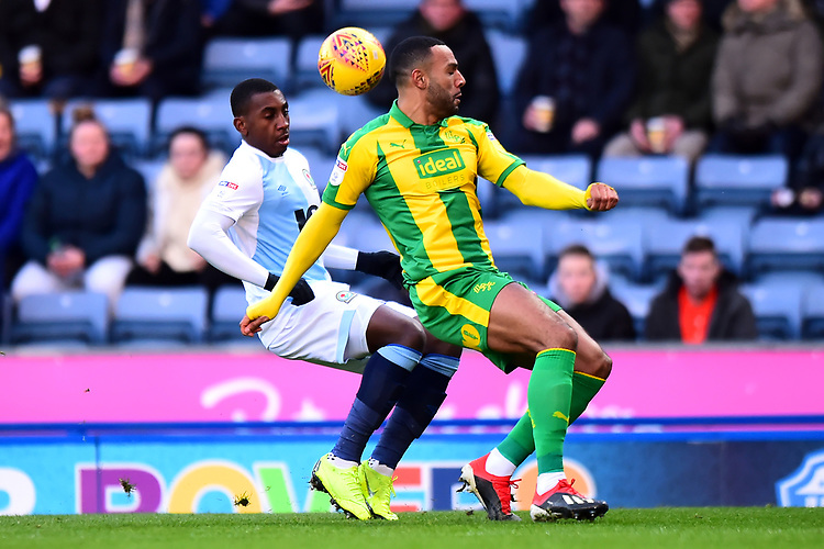 Blackburn Rovers' Amari'i Bell vies for possession with West Bromwich Albion's Matt Phillips<br /> <br /> Photographer Richard Martin-Roberts/CameraSport<br /> <br /> The EFL Sky Bet Championship - Blackburn Rovers v West Bromwich Albion - Tuesday 1st January 2019 - Ewood Park - Blackburn<br /> <br /> World Copyright © 2019 CameraSport. All rights reserved. 43 Linden Ave. Countesthorpe. Leicester. England. LE8 5PG - Tel: +44 (0) 116 277 4147 - admin@camerasport.com - www.camerasport.com