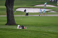Tyrrell Hatton (ENG) hits from the trap on 2 during round 2 of the 2019 Charles Schwab Challenge, Colonial Country Club, Ft. Worth, Texas,  USA. 5/24/2019.<br /> Picture: Golffile   Ken Murray<br /> <br /> All photo usage must carry mandatory copyright credit (© Golffile   Ken Murray)