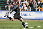 09 November 2008: North Carolina's Ashlyn Harris. The University of North Carolina Tarheels defeated the Virginia Tech University Hokies 3-0 at WakeMed Stadium at WakeMed Soccer Park in Cary, NC in the women's ACC tournament championship game.