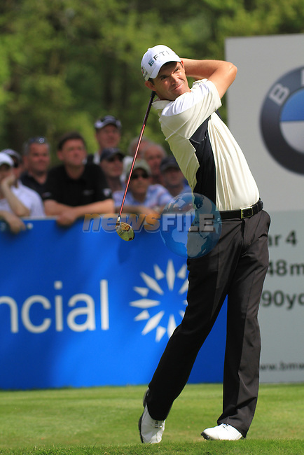 Padraig Harrington teeing from the 12th.during round two of the BMW PGA championship 2010 at Wentworth golf club, Surrey England..Picture Fran Caffrey/Newsfile.ie