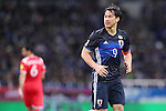 Shinji Okazaki (JPN), MARCH 29, 2016 - Football / Soccer : FIFA World Cup Russia 2018 Asian Qualifier Second Round Group E match between Japan 5-0 Syria at Saitama Stadium 2002 in Saitama, Japan. Okazaki was made captain for the night to celebrate his 100th cap for his country. He is Japan's third all-time goalscorer with 48 goals in his 100 games. (Photo by Yohei Osada/AFLO SPORT)