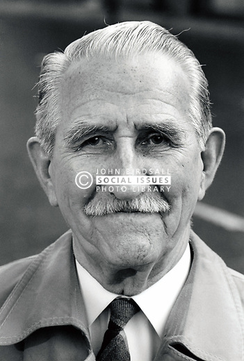 Portrait of an elderly man, Nottingham, UK 1991