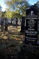 """Allerheiligen (All Saints) at Vienna's """"Zentralfriedhof"""" (""""Central Cemetary""""), the city's biggest graveyard. Old Jewish department."""