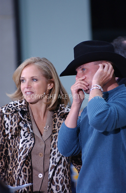 WWW.ACEPIXS.COM . . . . . ..New York, November 22, 2004: Katie Couric and Country Music Star Kenny Chesney performs live on Today Show. Please byline: ACE006 - ACE PICTURES.. . . . . . ..Ace Pictures, Inc:  ..Alecsey Boldeskul (646) 267-6913 ..Philip Vaughan (646) 769-0430..e-mail: info@acepixs.com..web: http://www.acepixs.com