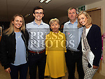 Rose of Tralee Elysha Brennan opens the new library at Gormanston College. Pictured here with her family Kate, Sean, Christine and Donal.<br /> <br /> Photo: Jenny Matthews