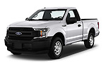 2018 Ford F-150 XLT 4 Door Pick Up angular front stock photos of front three quarter view