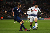 Daniel Schwaab of PSV Eindhoven and Son Heung-Min of Tottenham Hotspur during Tottenham Hotspur vs PSV Eindhoven, UEFA Champions League Football at Wembley Stadium on 6th November 2018