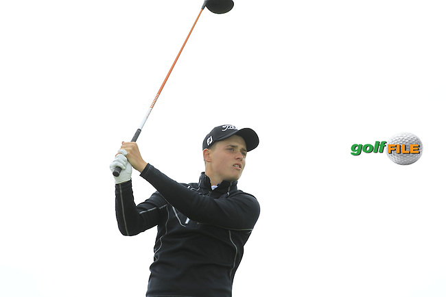 James Allen (England) at the 14th tee during Round 4 of the Irish Amateur Open Championship at Royal Dublin on Sunday 10th May 2015.<br /> Picture:  Thos Caffrey / www.golffile.ie
