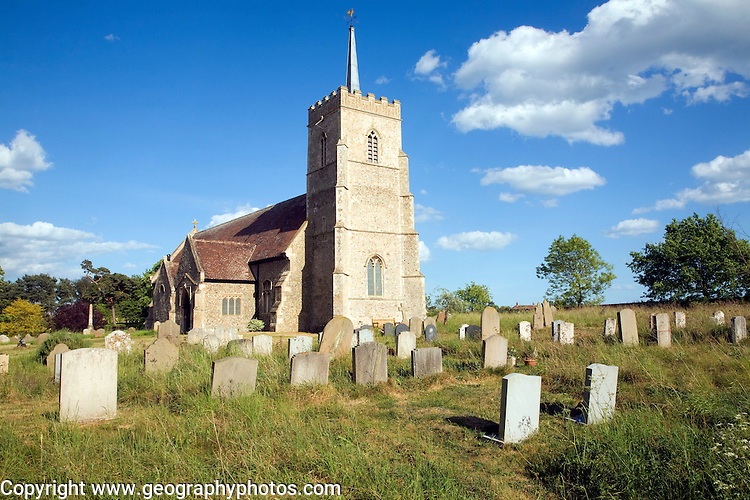 All Saints church and graveyard, Sudbourne, Suffolk, England