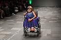 "October 19, 2016, Tokyo, Japan - A Nepalese disabled person Anjana K.C. displays creation of Japanese designer Takafumi Tsuruta at the ""tenbo"" 2017 spring/summer collection as a part of Japan Fashion Week in Tokyo on Wednesday, October 19, 2016.   (Photo by Yoshio Tsunoda/AFLO) LWX -ytd-"