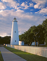 Cape Hatteras National Seashore, NC:  <br /> Ocracoke Island Lighthouse (1823) located on Ocracke Island