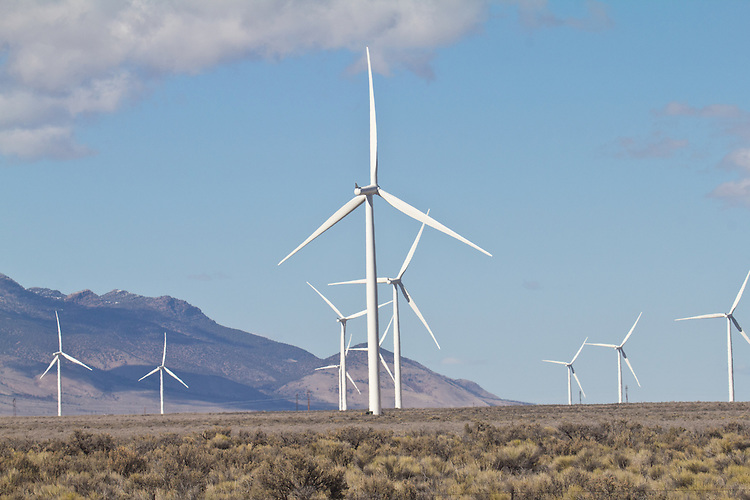 Nevada wind farms: Spring Valley Wind, Pattern Energy Group, Construction Contractor: Mortenson Construction: Turbine Manufacturer: Siemens, 30 miles east of Ely, Nevada, USA