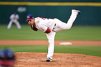 Buffalo Bisons pitcher Sean Nolin (35) delivers a pitch during a game against the Gwinnett Braves on May 13, 2014 at Coca-Cola Field in Buffalo, New  York.  Gwinnett defeated Buffalo 3-2.  (Mike Janes/Four Seam Images)