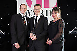© Joel Goodman - 07973 332324 . 02/03/2017 . Manchester , UK . Partner of the Year , Tom Bridgford of Eversheds Sutherland (International)  . The Manchester Legal Awards at the Midland Hotel . Photo credit : Joel Goodman