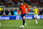 Alvaro Morata os Spain celebrates after scoring a goal during the friendly match between Spain and Colombia at Nueva Condomina Stadium in Murcia, jun 07, 2017. Spain. (ALTERPHOTOS/Rodrigo Jimenez)