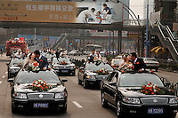 "Love in Modern China is demonstrated in a caravan to a mass wedding at the Rose Wedding Festival. Every time young Chinese are surveyed, they say that money is more important than love.  Money is the PRIMARY concentration of this new ""Little Capitalist"" class.  Money is happening so quickly around this group of 20 and 30 somethings that relationships take a back seat to getting ahead financially."