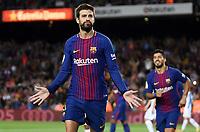 BARCELONA, 09-09-2017. LaLiga 2017/ 2018, date 3. FC Barcelona - RCD Espanyol. Gerard Pique of FC Barcelona celebrates his goal. Foto Sergio Ruiz/ProShots/Insidefoto
