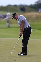 Cameron Champ (AM)(USA) putts on the 8th green during Saturday's Round 3 of the 117th U.S. Open Championship 2017 held at Erin Hills, Erin, Wisconsin, USA. 17th June 2017.<br /> Picture: Eoin Clarke | Golffile<br /> <br /> <br /> All photos usage must carry mandatory copyright credit (&copy; Golffile | Eoin Clarke)