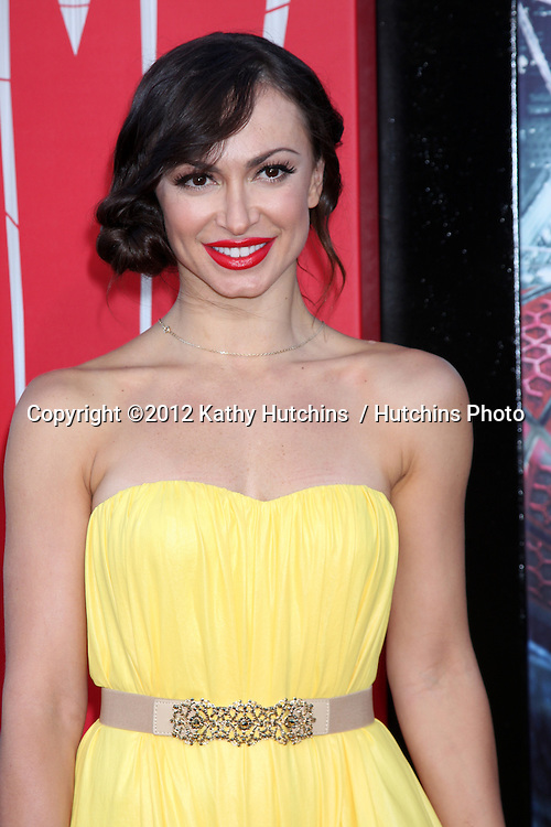 "LOS ANGELES - JUN 28:  Karina Smirnoff arrives at the ""The Amazing Spider-Man"" Premiere at Village Theater on June 28, 2012 in Westwood, CA"
