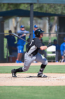 Chicago White Sox first baseman Corey Zangari (25) follows through on his swing during an Instructional League game against the Kansas City Royals at Camelback Ranch on September 25, 2018 in Glendale, Arizona. (Zachary Lucy/Four Seam Images)