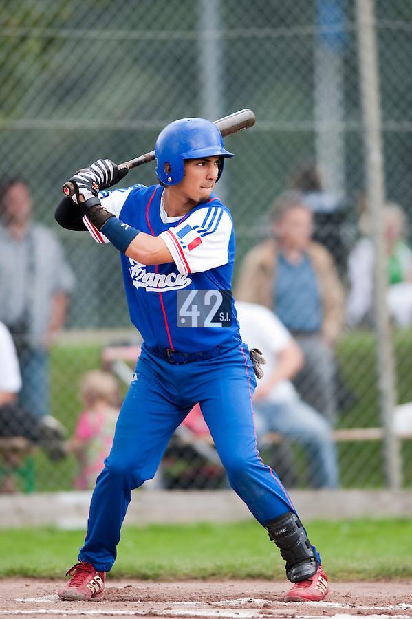Baseball - 2009 European Championship Juniors (under 18 years old) - Bonn (Germany) - 03/08/2009 - Day 1 - Thomas Medina (France)