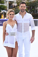 "Stephanie Waring and Sylvain Longchambon<br /> at the ""Dancing on Ice"" launch photocall, natural History Museum, London<br /> <br /> <br /> ©Ash Knotek  D3365  19/12/2017"