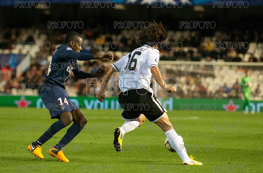 Valencia - Paris Saint Germain, Uefa Champions League 2013